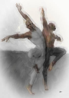 Duo Dancers Art Print
