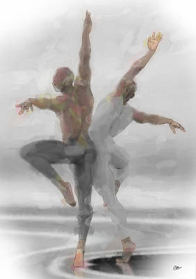 Duo De Bailarines Art Print