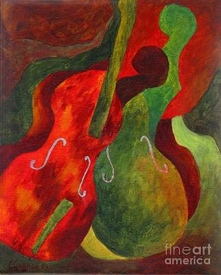 Painting - Duo Fiddles by Claire Gagnon