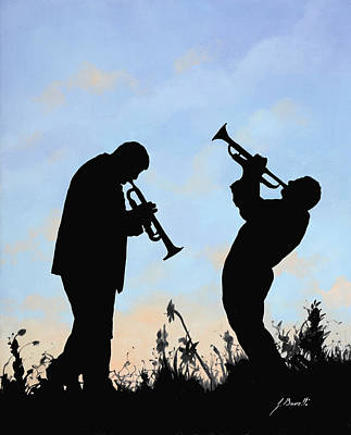 Jazz Painting - duo by Guido Borelli