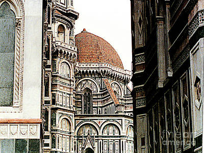 Photograph - Duomo Cathedral In Florence, Italy by Merton Allen