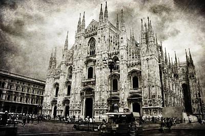 Old Milano Photograph - Duomo Di Milano by Laura Melis