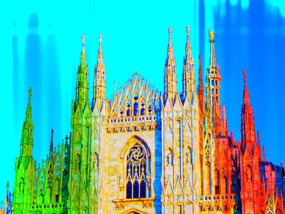 Mixed Media - Duomo Di Milano by Michelle Dallocchio