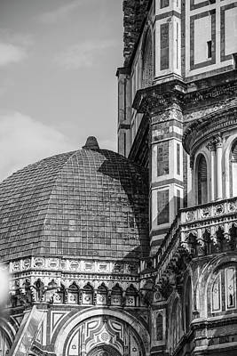 Photograph - Duomo In Black And White Florence  by John McGraw