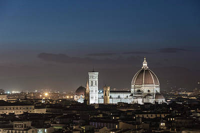 Photograph - Duomo In Florence At Sunset  by John McGraw