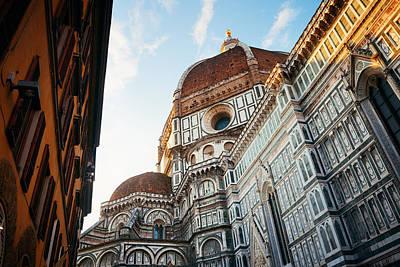 Photograph - Duomo Santa Maria Del Fiore Closeup In Street by Songquan Deng