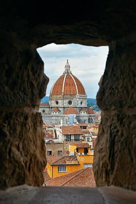 Photograph - Duomo Santa Maria Del Fiore by Songquan Deng