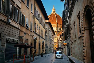 Photograph - Duomo Santa Maria Del Fiore Street by Songquan Deng