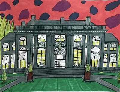 Dupont Family Mansion. Art Print