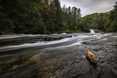 Photograph - Dupont State Forest Lower Falls At Triple Falls by Donnie Whitaker