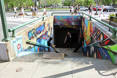 Photograph - Dupont Underground And Mural by Cora Wandel