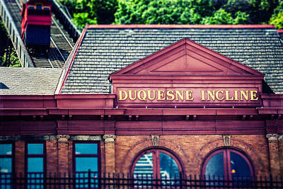 Duquesne Incline Of Pittsburgh Art Print by Lisa Russo