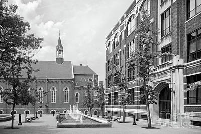 Photograph - Duquesne University Chapel And Canevin Hall by University Icons
