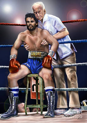 Roberto Painting - Duran Hands Of Stone 1a by Reggie Duffie