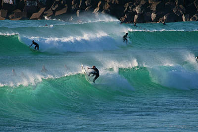 Photograph - Duranbah Surfers by Odille Esmonde-Morgan