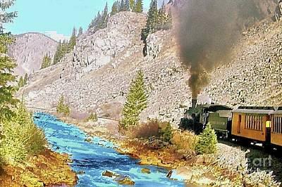 Digital Art - Durango And Silverton Narrow Gauge Railroad  by Janette Boyd