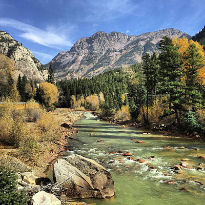 Photograph - Durango And Silverton Railway In Fall by Elizabeth Rose