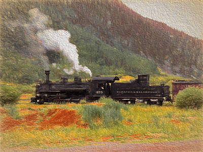 Photograph - Durango And Silverton Train 1 by Ginger Wakem