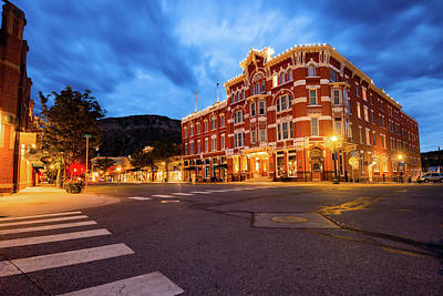 Photograph - Durango Colorado Skyline - Strater Hotel At Dawn by Gregory Ballos