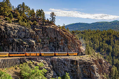 Photograph - Durango-silverton Dsng Narrow Gauge Railroad Train - Colorado by Gregory Ballos