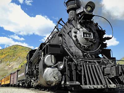 Rail Digital Art - Durango Silverton Locomotive 481 - Pride Of Colorado by Daniel Hagerman