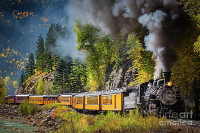 Transportation Royalty-Free and Rights-Managed Images - Durango-Silverton Narrow Gauge Railroad by Inge Johnsson