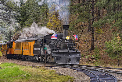 Photograph - Durango Silverton Railroad At Rockwood Colorado Dsc03862 by Greg Kluempers