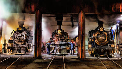 Painting - Durango Silverton Roundhouse by Christopher Arndt