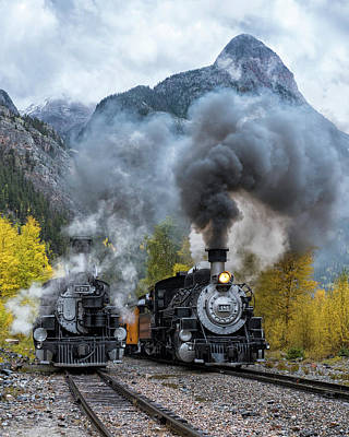 Photograph - Durango Silverton Train by Angela Moyer