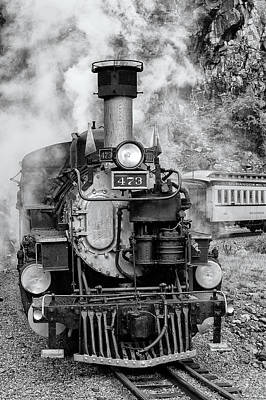 Photograph - Durango Silverton Train Engine by Angela Moyer