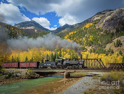 Guage Photograph - Durango-silverton Twin Bridges by Inge Johnsson