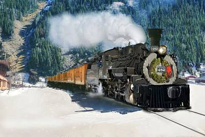 Digital Art - Durango To Silverton Train by Janette Boyd
