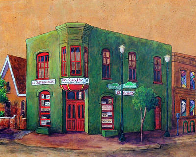 Corner Stores Painting - Duranguito, El Paso Tx by Candy Mayer