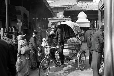 Photograph - Durbar Square Taxi by Aidan Moran