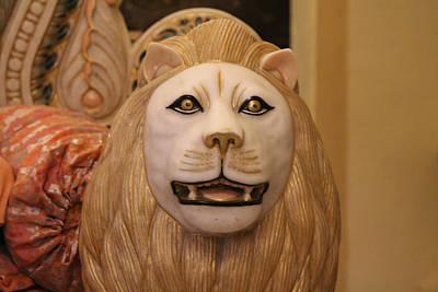 Durga Photograph - Durga's Lion, Vrindavan by Jennifer Mazzucco