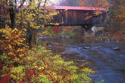 Photograph - Durgin Covered Bridge Sandwich by John Burk