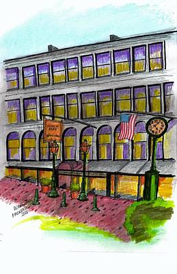 Drawing - Durgin Park Bosotn by Paul Meinerth