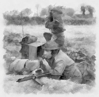 Infantry Painting - Durham Light Infantry In Wwii by Esoterica Art Agency