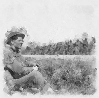 Infantry Painting - Durham Light Infantry Wwii by Esoterica Art Agency