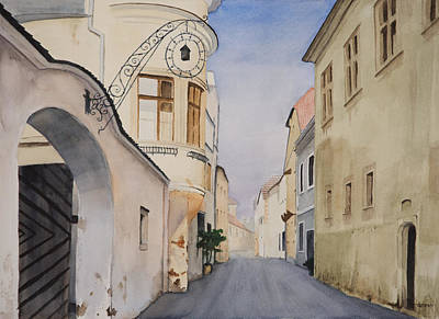 Watercolor Painting - Durnstein Austria by Christopher Reid