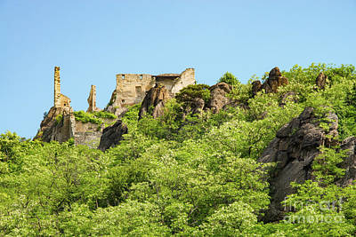 Durnstein Photograph - Durnstein Castle Ruins by Bob Phillips