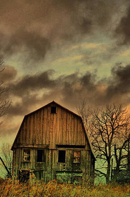 Country Scenes Photograph - Dusk Abandoned  by Emily Stauring