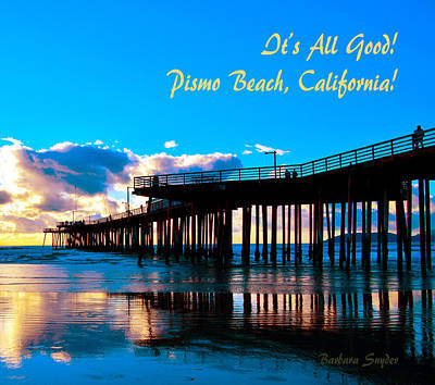 Pismo Beach Painting - Dusk And It's All Good Pismo Beach California by Barbara Snyder
