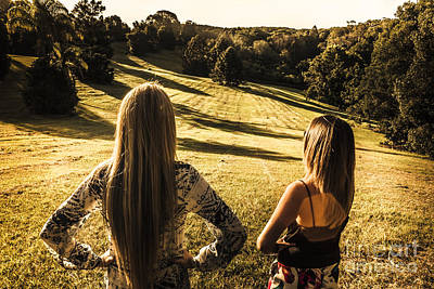 Two Girls Photograph - Dusk And Summer by Jorgo Photography - Wall Art Gallery