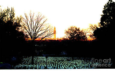 Photograph - Dusk At Arlington Cemetery by Clayton Bruster