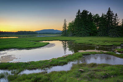 Photograph - Dusk At Bass Harbor Marsh by Rick Berk