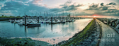 Photograph - Dusk At Breskens Harbor by Daniel Heine