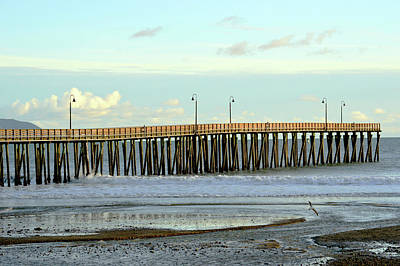 Photograph - Dusk At Cayucos Pier by Barbara Snyder
