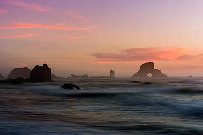 Photograph - Dusk At Ecola Point by Robert Potts