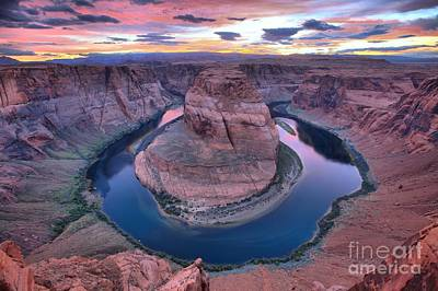 Photograph - Dusk At Horseshoe Bend by Adam Jewell